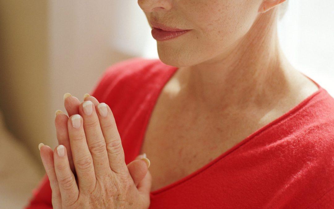 Woman practicing spiritual self-care