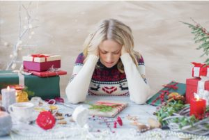 Woman with Holiday stress