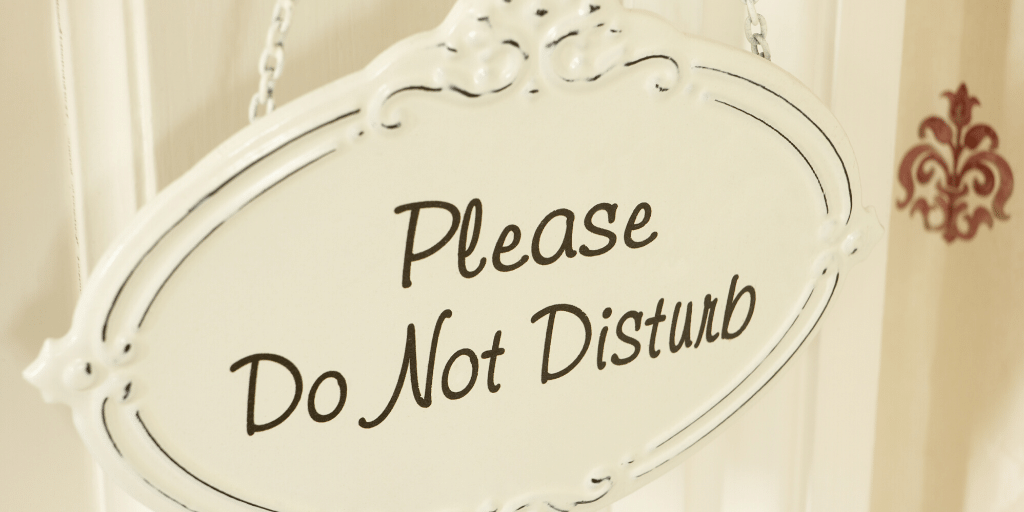 Do not disturb sign for home office