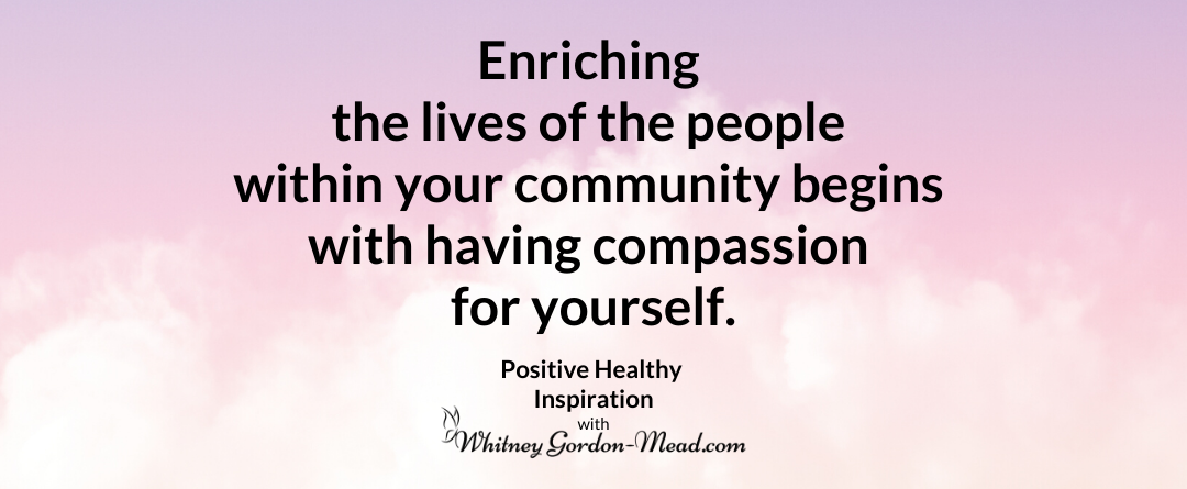 Compassion for yourself