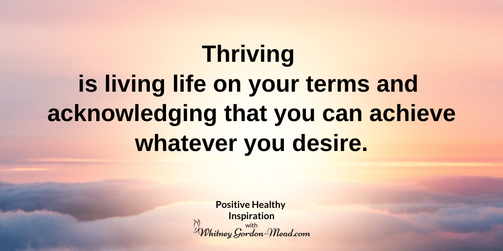 What does it mean to thrive?