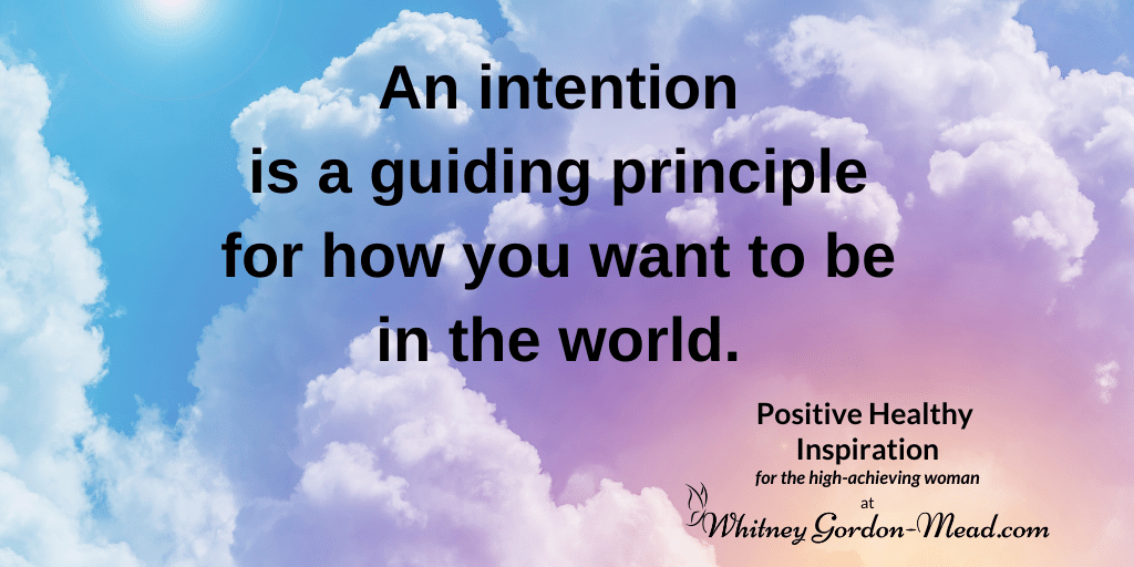 Whitney Gordon-Mead quote on setting intentions
